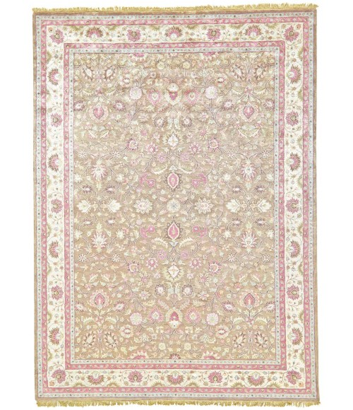 Feizy AMORE 8240F IN LIGHT BROWN/BEIGE 8' x 8' Round Area Rug