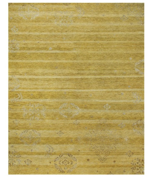 """Feizy QUING 6064F IN YELLOW 7' 9"""" x 9' 9"""" Area Rug"""