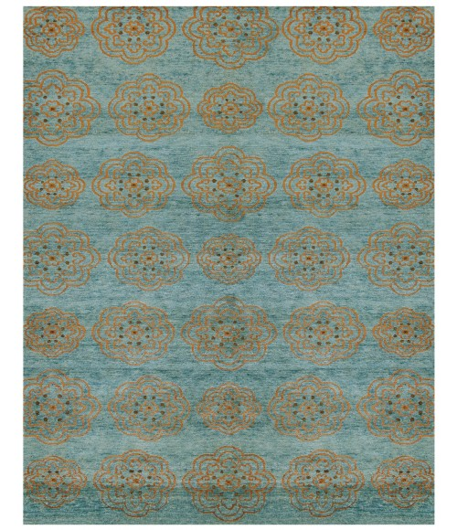 """Feizy QUING 6065F IN TEAL 5' 6"""" x 8' 6"""" Area Rug"""
