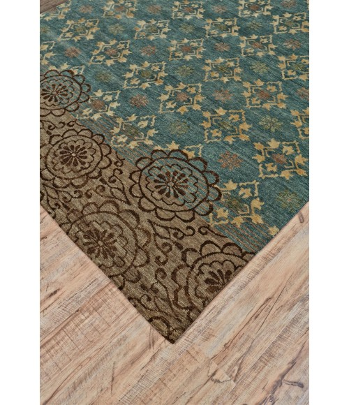 Feizy QUING 6066F IN SILVER SAGE 2' x 3' Sample Area Rug