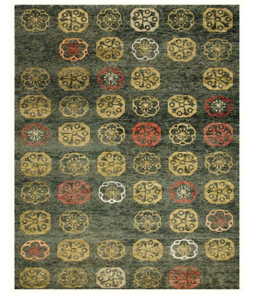 """Feizy QUING 6070F IN LODEN 5' 6"""" x 8' 6"""" Area Rug"""