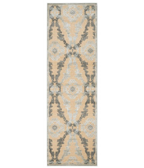 """Feizy SAPHIR 3783F IN IVORY/SILVER 2' 6"""" x 8' Runner Area Rug"""