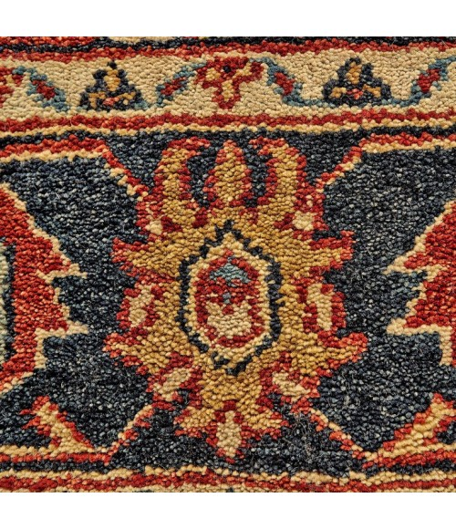 Feizy USTAD 6110F IN RED/BLACK 2' x 3' Sample Area Rug
