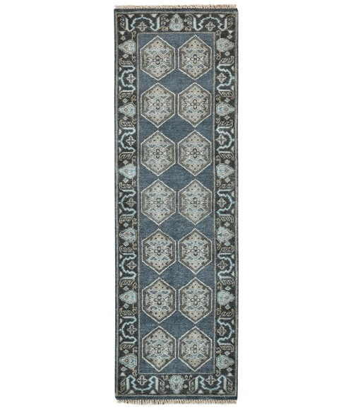 Feizy USTAD 6111F IN DARK BLUE/GRAY 2' x 3' Sample Area Rug