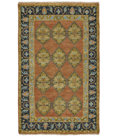 """Feizy USTAD 6111F IN RUST/CHARCOAL 7' 9"""" x 9' 9"""" Area Rug"""