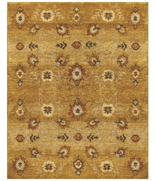 """Feizy AMZAD 6114F IN GOLD 7' 9"""" x 9' 9"""" Area Rug"""