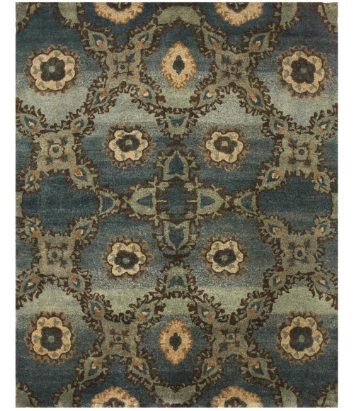 """Feizy AMZAD 6116F IN AZURE 7' 9"""" x 9' 9"""" Area Rug"""