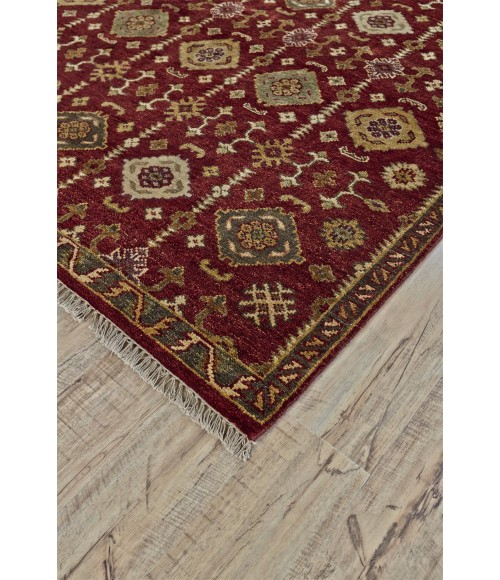 Feizy ASHI 6129F IN RED 2' x 3' Sample Area Rug
