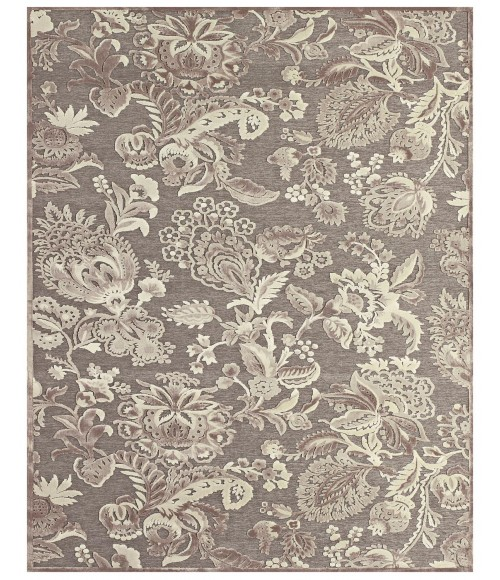 """Feizy SAPHIR ZAM 3112F IN PEWTER/GRAY 7' 6"""" X 10' 6"""" Area Rug"""