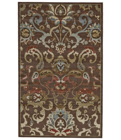 """Feizy RIVINGTON 3235F IN CHOCOLATE 2' 10"""" X 7' 10"""" Runner Area Rug"""