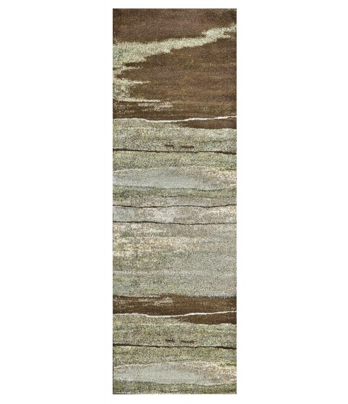 """Feizy RIVINGTON 3247F IN CHOCOLATE 2' 10"""" X 7' 10"""" Runner Area Rug"""
