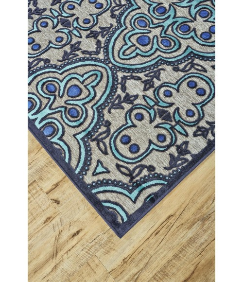 """Feizy SAPHIR CALLO 3262F IN GRAY/CHARCOAL 2' 2"""" x 4' Area Rug"""