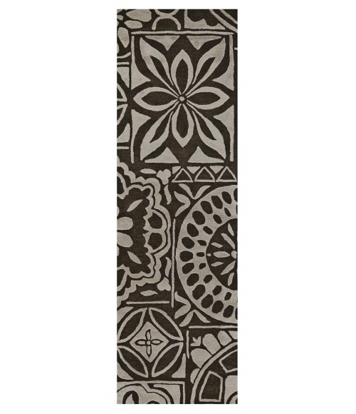 Feizy PORTICO 8495F IN TAN/BROWN 8' X 11' Area Rug