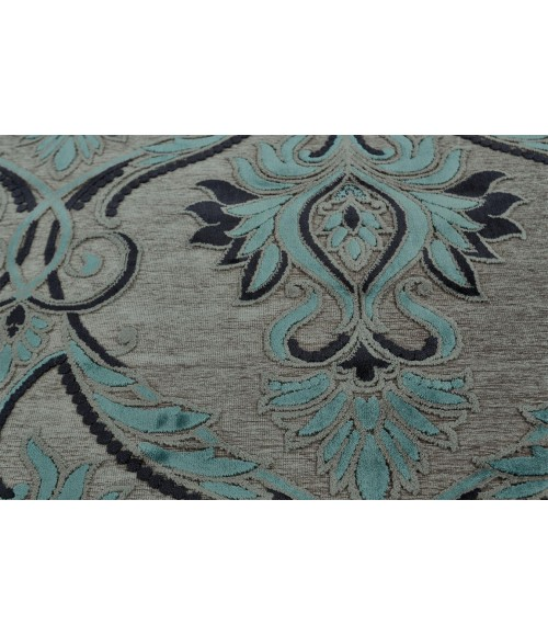 """Feizy SAPHIR YARDLEY 3658F IN PEWTER/CHARCOAL 2' 2"""" x 4' Area Rug"""