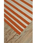 Feizy SARGASSO I 0633F IN ORANGE/WHITE 5' x 8' Area Rug
