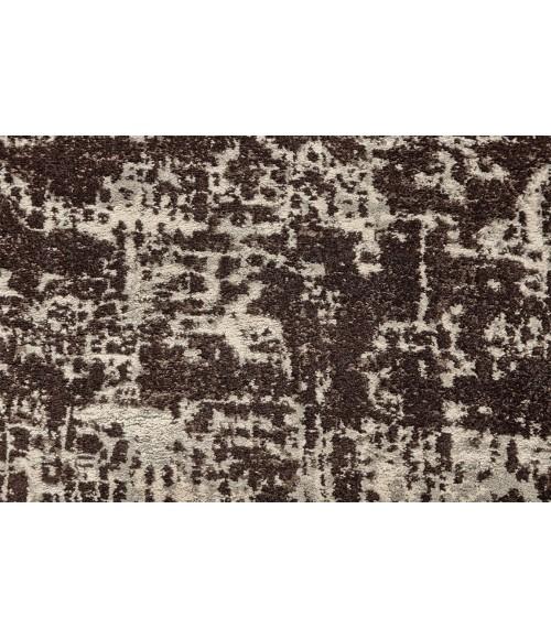"Feizy AZERI II 3845F IN DARK CHOCOLATE/ECRU 2' 2"" x 4' Area Rug"