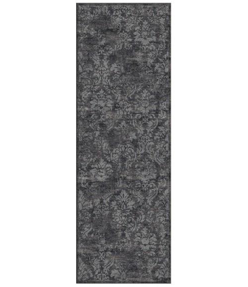 """Feizy AZERI IV 3852F IN DARK GRAY/DARK GRAY 2' 10"""" X 7' 10"""" Runner Area Rug"""