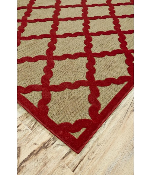 """Feizy RAPHIA I 3292F IN TAN/RED 7' 6"""" X 10' 6"""" Area Rug"""