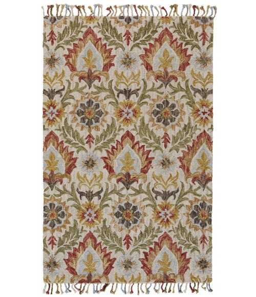 Feizy ABELIA 8675F IN GOLDEN OLIVE 8' X 11' Area Rug