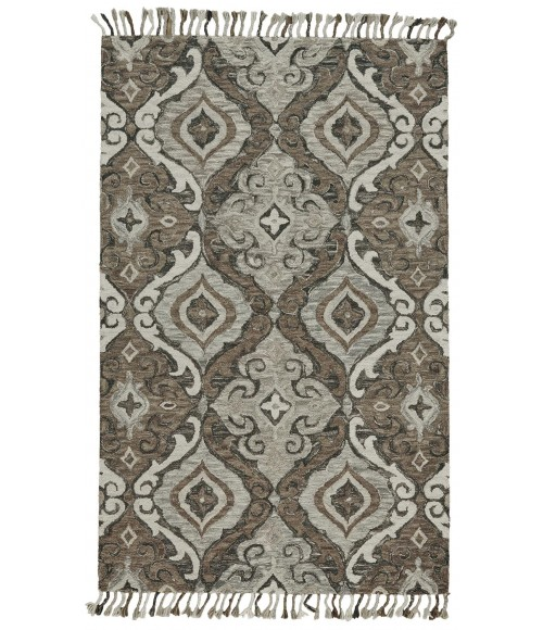 Feizy ABELIA 8676F IN IVORY/GRAY 5' x 8' Area Rug