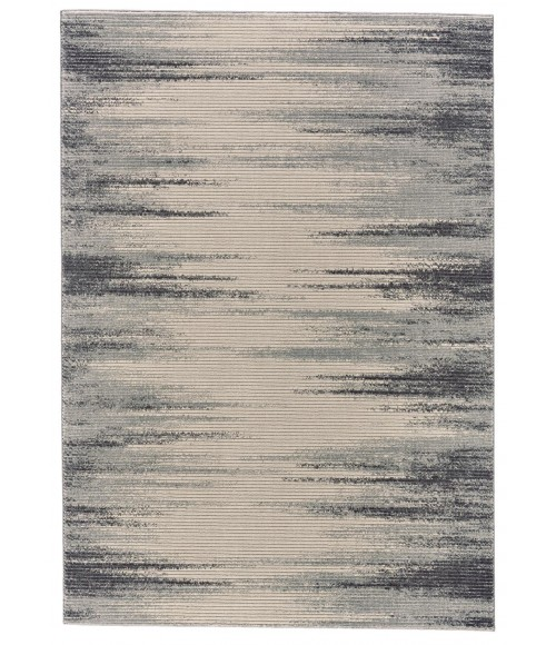 Feizy AKHARI 3674F IN IVORY/CHARCOAL 5' x 8' Area Rug