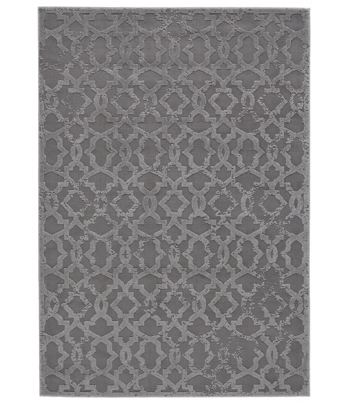 """Feizy AKHARI 3675F IN SILVER 2' 10"""" X 7' 10"""" Runner Area Rug"""