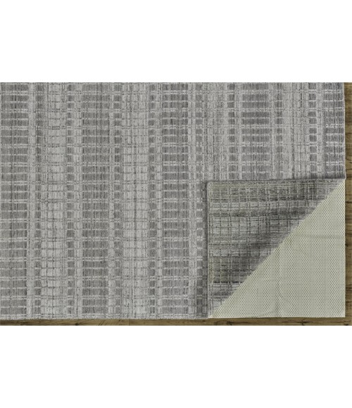 """Feizy ODELL 6385F IN GRAY/SILVER 7' 3"""" X 9' 3"""" Area Rug"""