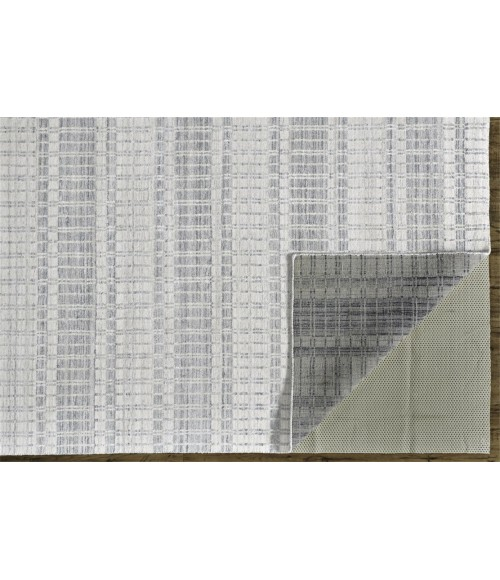 """Feizy ODELL 6385F IN LIGHT BLUE 3' 6"""" x 5' 6"""" Area Rug"""