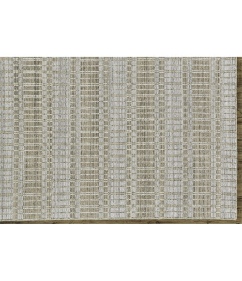 """Feizy ODELL 6385F IN TAN/SILVER 3' 6"""" x 5' 6"""" Area Rug"""