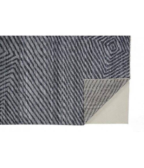 Feizy VIVIEN 6555F IN GRAY 5' x 8' Area Rug