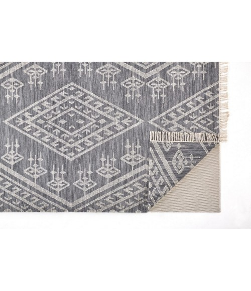 Feizy SAVONA 0795F IN NAVY/IVORY 2' x 3' Sample Area Rug