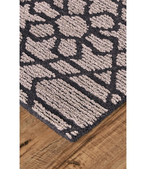 Feizy ASHER 8766F IN GRAY/CHARCOAL 5' x 8' Area Rug