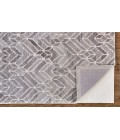 Feizy ASHER 8769F IN GRAY/NATURAL 8' x 8' Round Area Rug