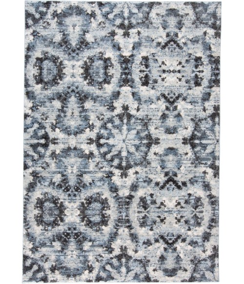"""Feizy AINSLEY 3895F IN CHARCOAL/BLUE 4' 3"""" X 6' 3"""" Area Rug"""