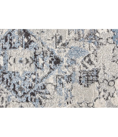 """Feizy AINSLEY 3896F IN BLUE/TAN 4' 3"""" X 6' 3"""" Area Rug"""