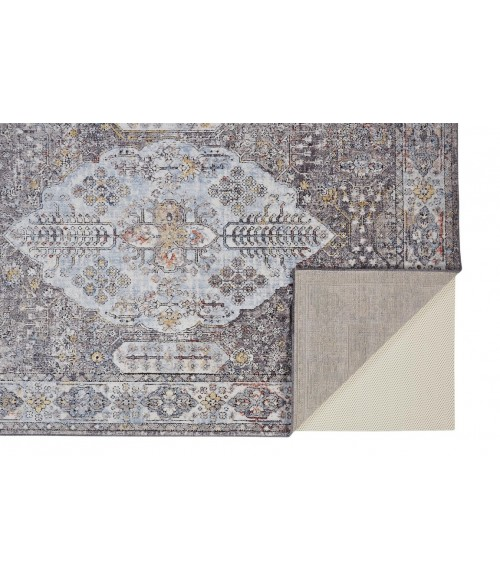 Feizy ARMANT 3906F IN GRAY/MULTI 8' x 10' Area Rug
