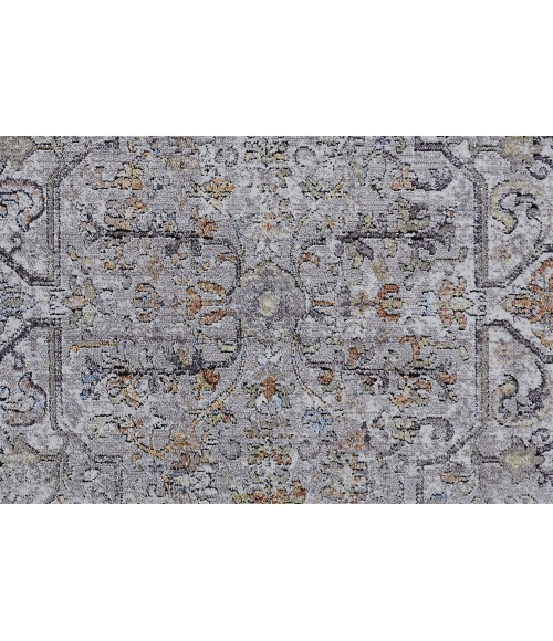 """Feizy ARMANT 3911F IN GRAY 2' 3"""" X 7' 9"""" Runner Area Rug"""
