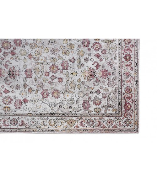 """Feizy ARMANT 3945F IN PINK/IVORY 4' X 5' 9"""" Area Rug"""