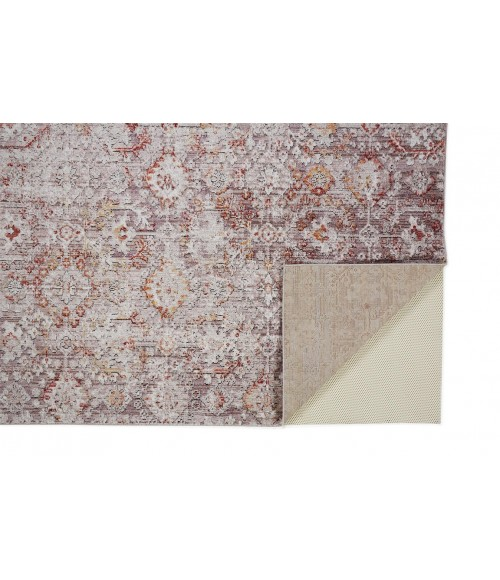 """Feizy ARMANT 3946F IN PINK / GRAY 2' 3"""" X 7' 9"""" Runner Area Rug"""
