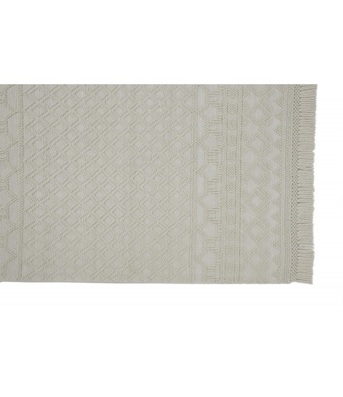 """Feizy PHOENEX 0809F IN IVORY 3' 6"""" x 5' 6"""" Area Rug"""