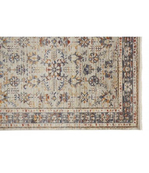 """Feizy WESLEY 3920F IN GRAY/MULTI 2' 6"""" x 8' Runner Area Rug"""