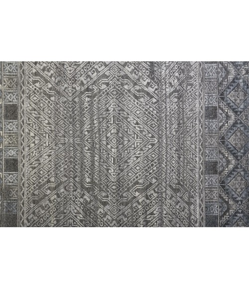 """Feizy PAYTON 6495F IN BLUE/GRAY 3' 6"""" x 5' 6"""" Area Rug"""