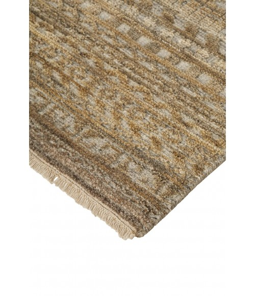 """Feizy PAYTON 6496F IN BROWN/GRAY 3' 6"""" x 5' 6"""" Area Rug"""
