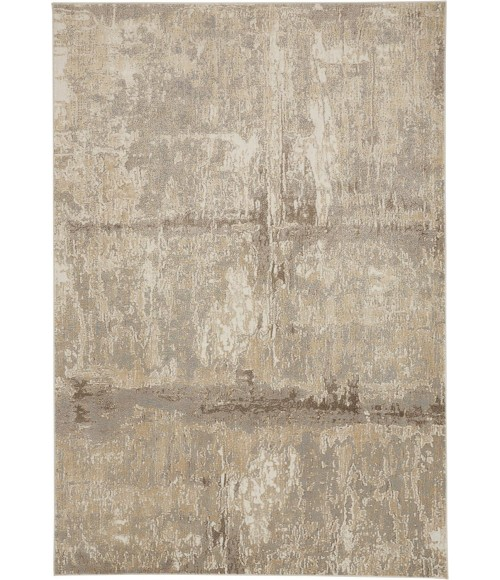 """Feizy PARKER 3701F IN IVORY/GRAY 2' 6"""" x 8' Runner Area Rug"""