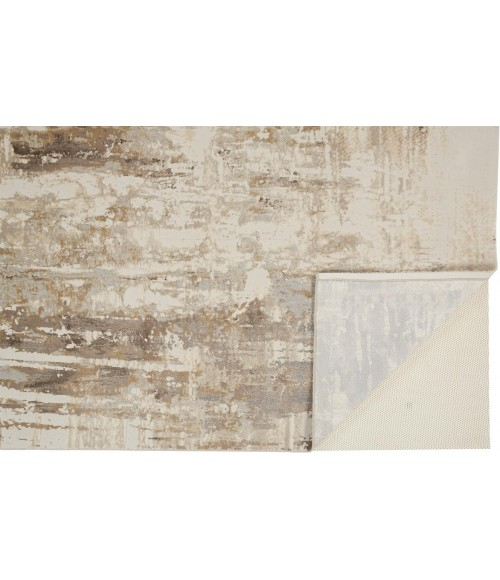 """Feizy PARKER 3709F IN GRAY/BEIGE 5' X 7' 6"""" Area Rug"""