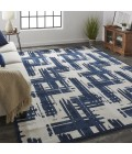"""Feizy REMMY 3808F IN BEIGE/BLUE 1' 8"""" X 2' 10"""" Sample Area Rug"""