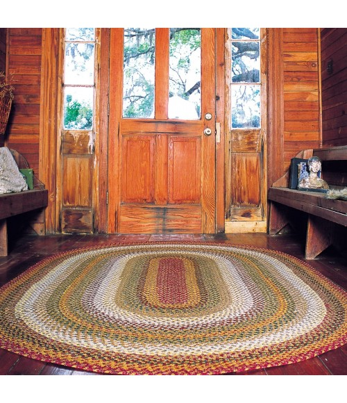 Homespice Cotton Braided Red Rug