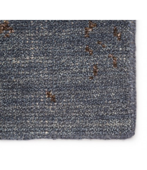 Jaipur Living Rou Hand-Knotted Abstract Blue/ Brown Area Rug (9 X13 )