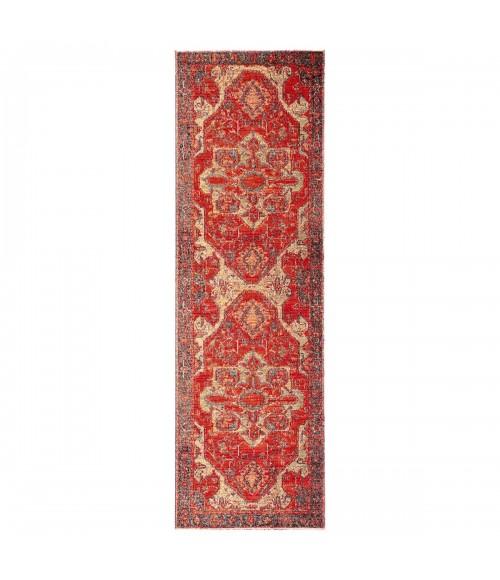"Jaipur Living Leighton Indoor/ Outdoor Medallion Red/ Blue Runner Rug (2 8""X10 )"