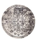 Jaipur Living Isolde Indoor/ Outdoor Medallion Gray/ Ivory Round Area Rug (6 X6 )